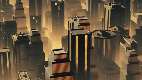 Metropolis Aerial 1 Animation