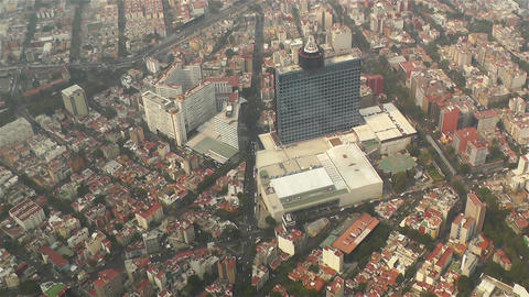 Mexico City Aerial 1 Stock Video Footage
