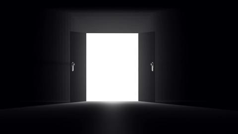 Mysterious Door 1 Stock Video Footage