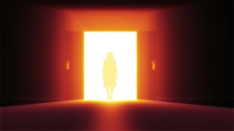 Mysterious Door 7 yurei Stock Video Footage