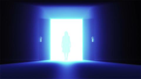 Mysterious Door 9 yurei Stock Video Footage