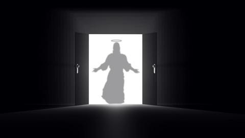 Mysterious Door 11 jesus Stock Video Footage