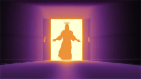 Mysterious Door 15 jesus Stock Video Footage