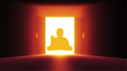 Mysterious Door 17 buddha Stock Video Footage