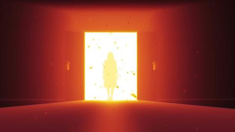 Mysterious Door v 2 6 yurei Stock Video Footage