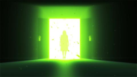Mysterious Door v 2 7 yurei Stock Video Footage