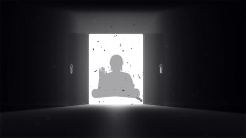 Mysterious Door v 2 10 buddha Stock Video Footage