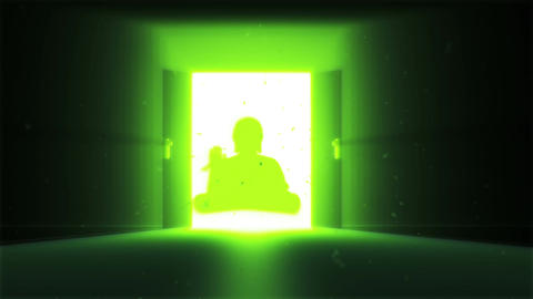 Mysterious Door v 2 12 buddha Stock Video Footage