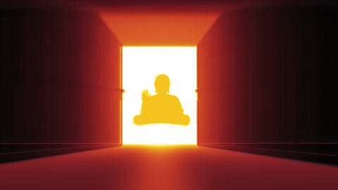 Mysterious Door v 3 17 buddha Stock Video Footage