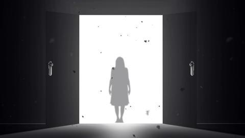 Mysterious Door v 4 1 yurei Stock Video Footage