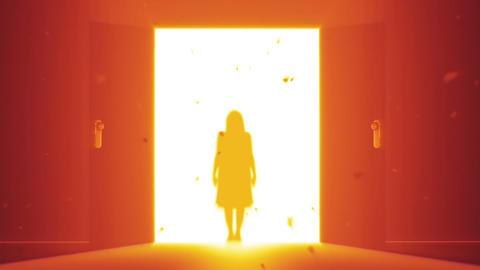Mysterious Door v 4 2 yurei Stock Video Footage