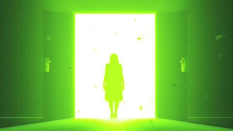 Mysterious Door v 4 3 yurei Stock Video Footage