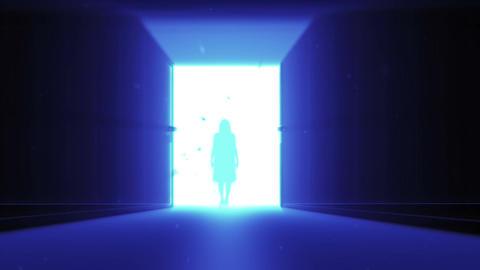 Mysterious Door v 4 4 yurei Stock Video Footage