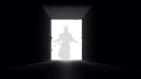 Mysterious Door v 4 6 jesus Stock Video Footage