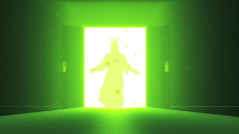 Mysterious Door v 4 8 jesus Stock Video Footage