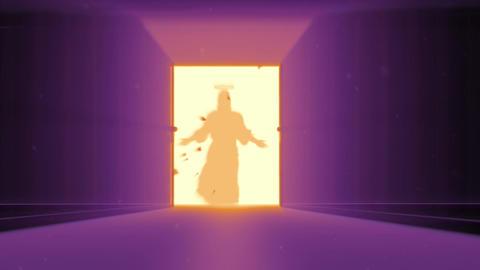 Mysterious Door v 4 10 jesus Stock Video Footage
