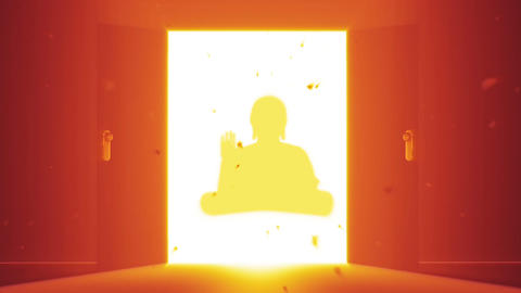Mysterious Door v 4 12 buddha Stock Video Footage