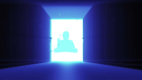 Mysterious Door v 4 14 buddha Stock Video Footage