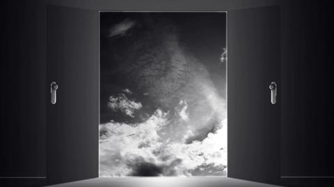 Mysterious Door Heaven Clouds
