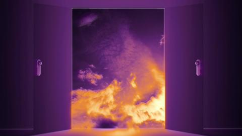 Mysterious Door v 6 5 Stock Video Footage