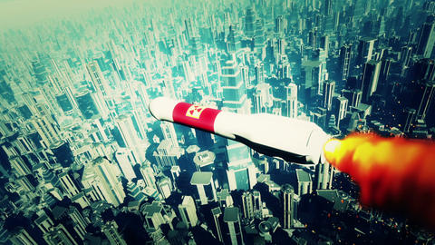 Nuclear Rocket Hits Metropolis 2 Animation