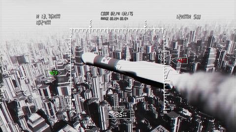 Nuclear Rocket Hits Metropolis 4 Stock Video Footage