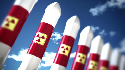 Nuclear Rockets 2 Stock Video Footage
