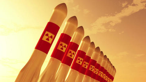 Nuclear Rockets 8 Stock Video Footage