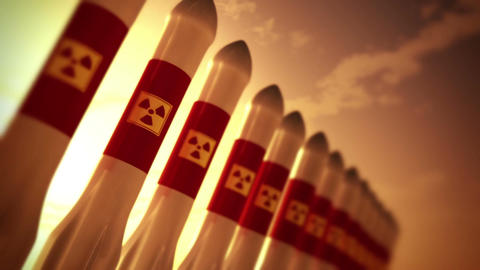 Nuclear Rockets 10 Stock Video Footage