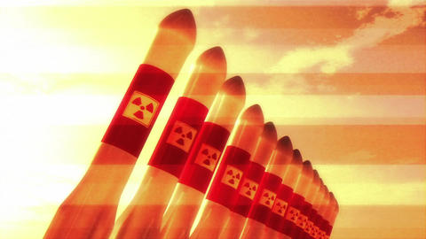 Nuclear Rockets 12 Stock Video Footage