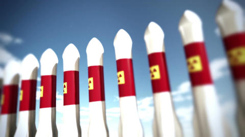 Nuclear Rockets 14 Stock Video Footage