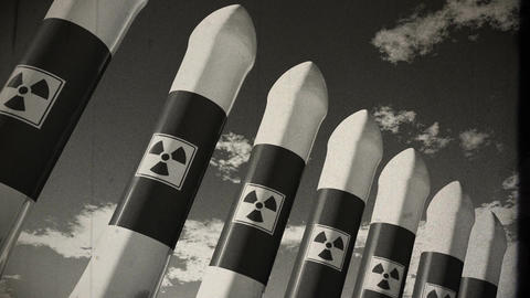 Nuclear Rockets 18 vintage Animation