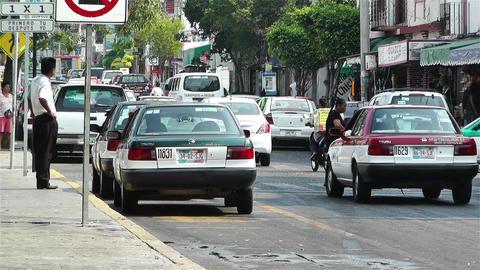 Oaxaca Crucecita Town Mexico 11 traffic Stock Video Footage