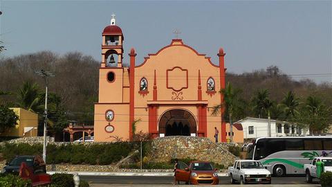 Oaxaca Crucecita Town Mexico 15 church Stock Video Footage