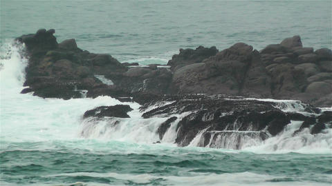 Ocean Waves on Rocky Coast 4 Stock Video Footage