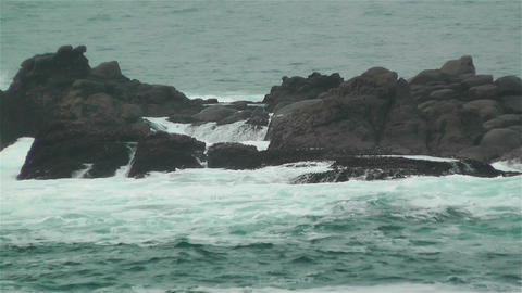 Ocean Waves on Rocky Coast 4 Footage
