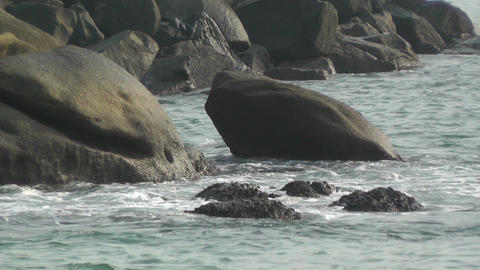 Ocean Waves on Rocky Coast 6 Stock Video Footage