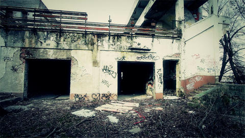 Scary Abandoned Building 3 v 2 Stock Video Footage