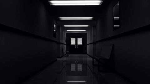 Scary Hospital Corridor 1 Stock Video Footage