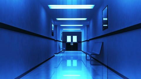 Scary Hospital Corridor 3 Stock Video Footage