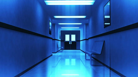 Scary Hospital Corridor 3 Animation