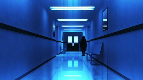 Scary Hospital Corridor 7 yurei Stock Video Footage