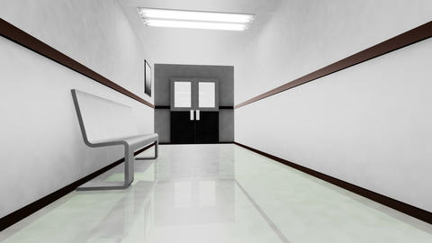 Scary Hospital Corridor v 3 1 Stock Video Footage