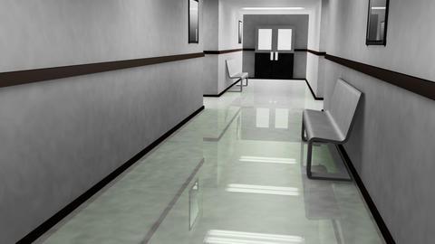 Scary Hospital Corridor v 4 1 Stock Video Footage