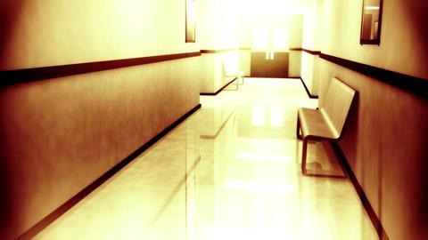 Scary Hospital Corridor v 4 3 Stock Video Footage