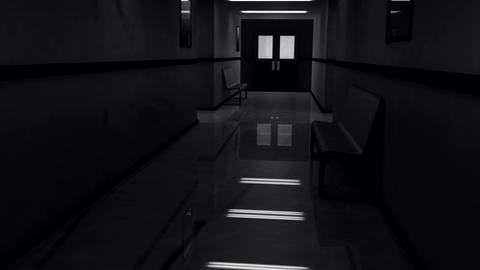 Scary Hospital Corridor Yurei 7 Stock Video Footage