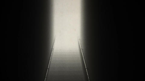 Scary Stairs Yurei Ghost Shape Appear v 2 7 vintage Stock Video Footage