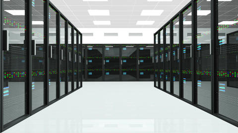 Server Room 1 Stock Video Footage