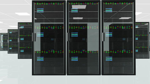Server Room 5 Stock Video Footage