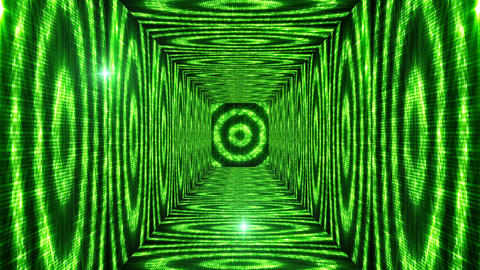 Shining Circles Tunnel 2 Stock Video Footage